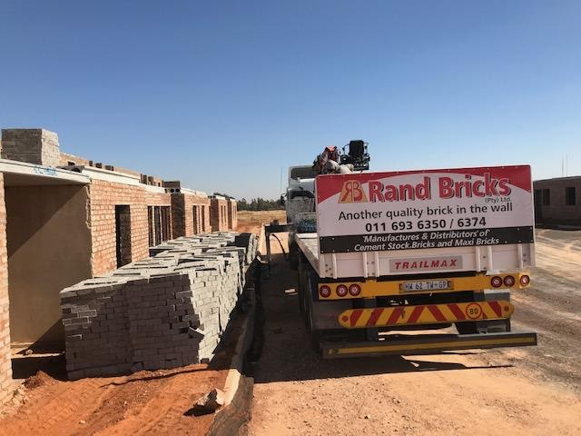 Material delivered to site, cement bricks at B37