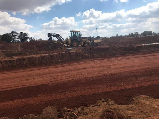 Road work and trenching for services in Ext 7