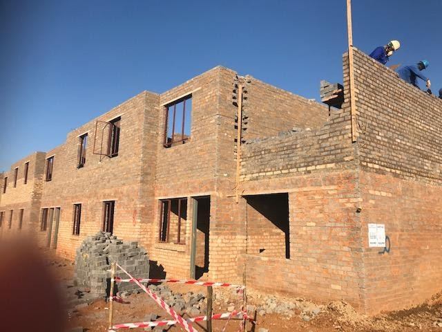Block 50, first floor brickwork reached 80% progress. Perimeter walls are at wall plate