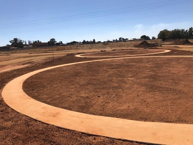 Circular ring concrete beams being foundations for ground water reservoirs in Ext 7