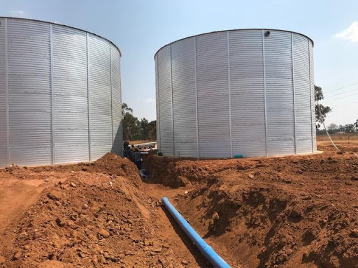 Two ground water tanks in Ext 7