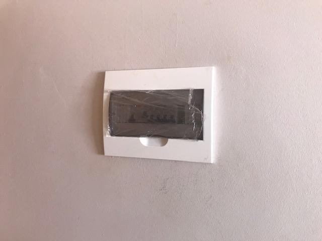 Distribution board fitted in the dwelling units.