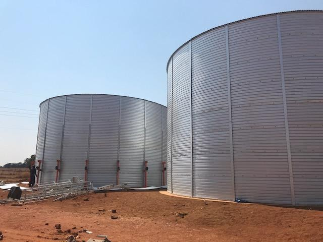 Ground water reservoirs in Ext 7. One is complete and the 2nd one is nearly complete