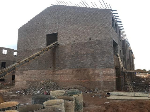B46 roof structure in progress