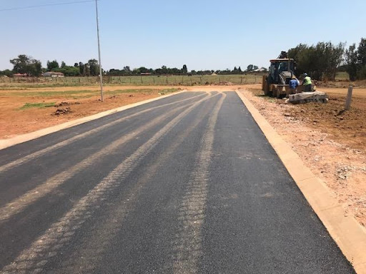 Ext 7 road paved with asphalt