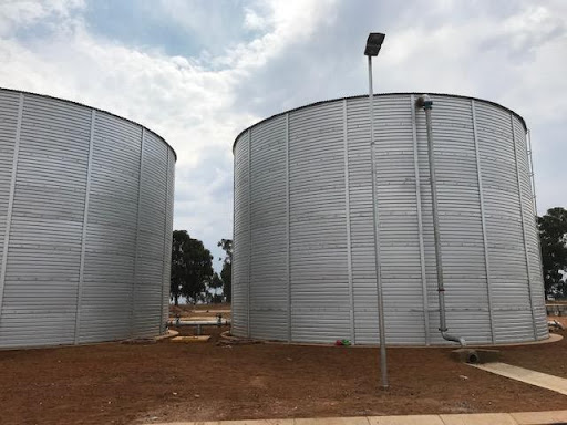 Ground water reservoirs in Ext 7, combined capacity of 2.6 Megalitres