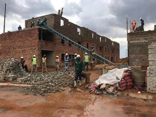2nd floor brickwork at B29 Ext 6