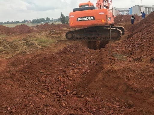 Shallow rock excavation for services
