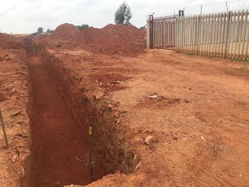 Neat trenching near the sewage pump station