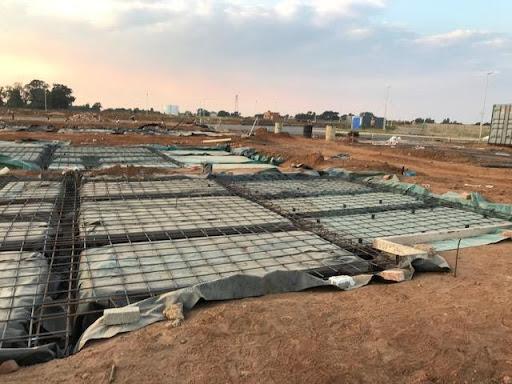 Rebar and foundations at B26
