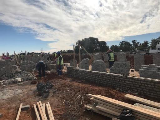 B9 brickwork already going up