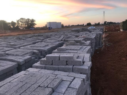 Cement bricks delivered at Ext 7