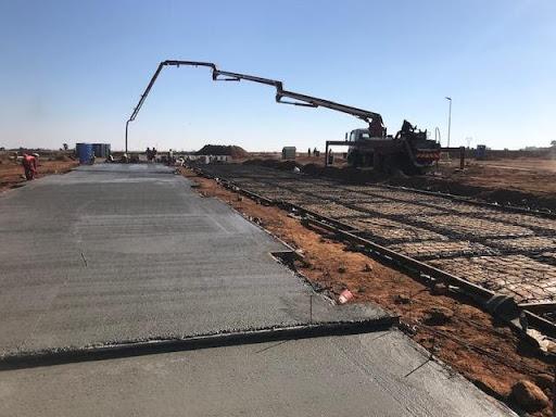 Casting raft concrete