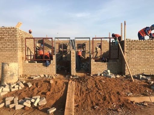 B9 brickwork in progress