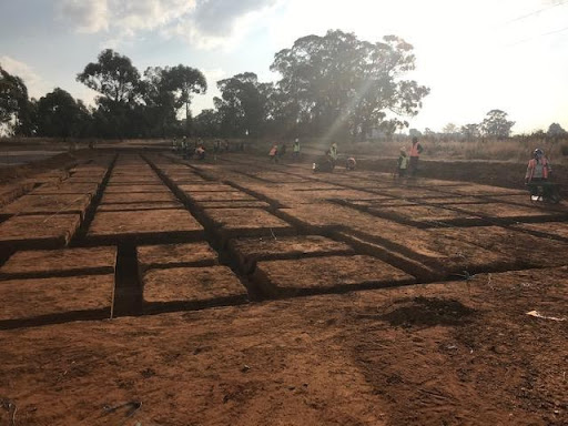 Trenching done at B3